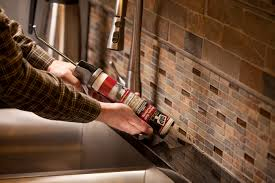 How To Install A Kitchen Backsplash Video Caulking Kitchen Backsplash Gallery And To Install Caulk On Tile