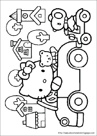 kitty coloring pages mermaid index coloring pages