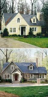 Small House Exterior Paint Schemes by Curb Appeal 8 Stunning Before U0026 After Home Updates Brick Ranch