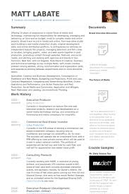 Host Resume Sample by Executive Producer Resume Samples Visualcv Resume Samples Database