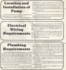 shurflo model 200 rv water pump installation manual page 1