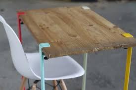 plateau bois pour bureau 39 idées déco de tréteaux pour créer une table ou un bureau