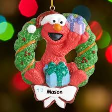 Elmo Party Decorations Walmart Personalized Elmo Christmas Ornament Walmart Com