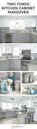 Two Tone Painted Kitchen Cabinets by Two Color Painted Kitchen Cabinet With Marble Counter And
