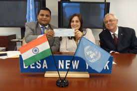 india gives 100 000 to un tax fund 1st country to contribute