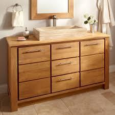 vessel sinks bathroom ideas teak vanity single vessel sink home design teak vanity