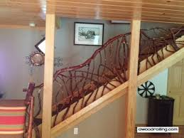 Banister Wall Rustic Handrails For The Home Options And Materials For Railings
