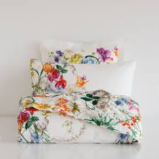 multicolor floral print percale bedding bedrooms room and interiors