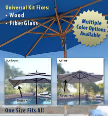 Patio Umbrella Parts Repair by Amazon Com Patio Umbrella Rib Repair Kit For Wood Garden U0026 Outdoor