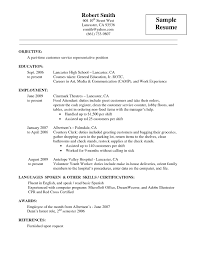 brilliant ideas of resume examples resume templates food service