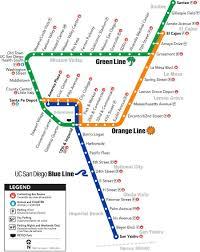 Map San Diego San Diego Trolley