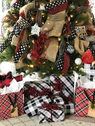 christmas plaid wrapping paper easy christmas gift wrap trick how to beautiful and festive