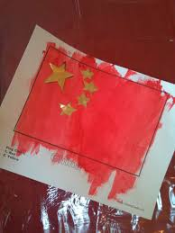 Chineses Flag Trust And Obey China Craft Making A Chinese Flag