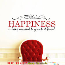happiness married quotes wall stickers home wedding wall decals