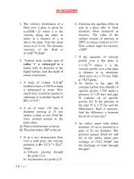 test on fluid mechanics docx fluid dynamics pressure