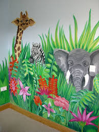 jungle scene and more murals to get ideas for painting children u0027s