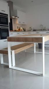 Modern Solid Wood Dining Table Best 25 Dining Table With Bench Ideas On Pinterest Kitchen
