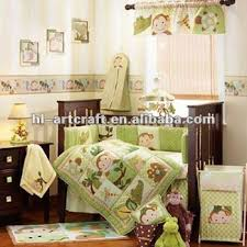 Crib Bedding Monkey 10 Pieces Green Monkey Baby Crib Bedding Set Buy Baby Crib