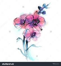 image result for orchid watercolor tattoo tattoos pinterest