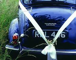 car ribbon something borrowed wedding car ribbon once wed