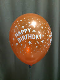 helium balloon delivery in selangor 12in 4s happy birthday orange balloondelivery my