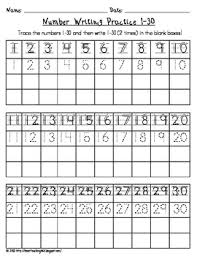 number writing practice 1 30 by i heart teaching tpt