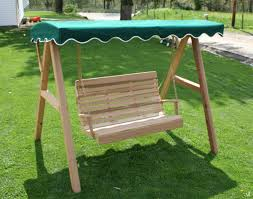Glider Swings With Canopy by Red Cedar Swing Stand