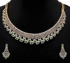 diamond necklace set images Dazzling diamond necklace set latest gold jewellery designs jpg