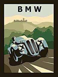 bmw posters amazon com blue bmw antique car germany german automobile vintage