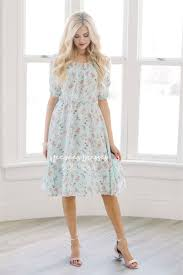 summer dress mint pink floral modest summer dress modest clothes