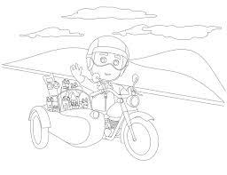 handy manny tools riding motorcycle coloring print bebo