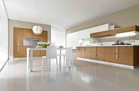 minimalist style kitchen for your home with glass table and white