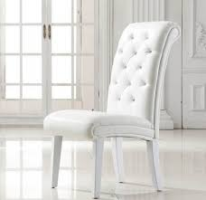 faux leather dining room chairs white leather dining room chairs