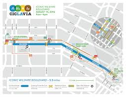 Parking Restrictions Los Angeles Map by Ciclavia Iconic Wilshire Boulevard