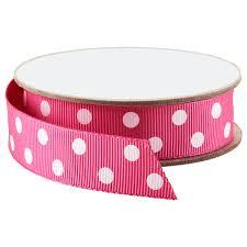 polka dot grosgrain ribbon fuchsia white polka dot grosgrain ribbon the container store