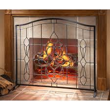 Custom Size Fireplace Screens by Living Room Scenic Bronze Custom Tree Pattern In Scribed Frame 3