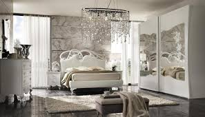 Mirrored Furniture For Bedroom by Glamorous Bedroom Decorating Ideas With Crystal Chandelier And