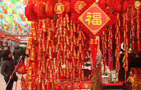Korean Lunar New Year Decorations by Chinese Shop Are Newly Decked Out With Traditional Chinese Lunar