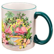 Beautiful Coffee Cups Pink Flamingos Ceramic Mug Vintage Coffee Mugs Retroplanet Com