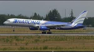 rare national airlines boeing 757 200 n567ca landing at frankfurt