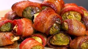bacon wrapped brussels sprouts with lemon dip recipe food