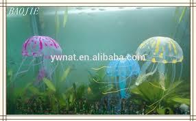 glowing artificial jellyfish ornament for aquarium fish tank buy