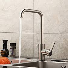 stainless steel kitchen faucets chrome finish contemporary stainless steel brushed kitchen faucet