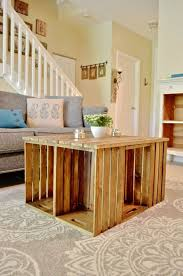 Wine Crate Coffee Table Diy by Best 25 Wood Crate Table Ideas Only On Pinterest Crate Table