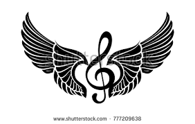 note wings stock vector 777209638