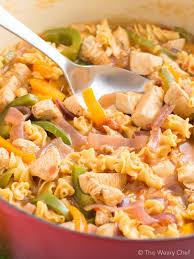 pasta recipes one pot fajita chicken pasta recipe the weary chef