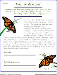 main idea and details worksheets 3rd grade worksheets