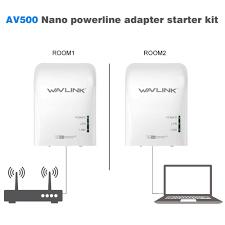 wavlink 500mbps power line ethernet adapter extender high speed