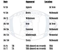 mustang football schedule mustang football t h mcdonald middle