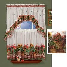 floral kitchen curtains floral curtains flower print tiers